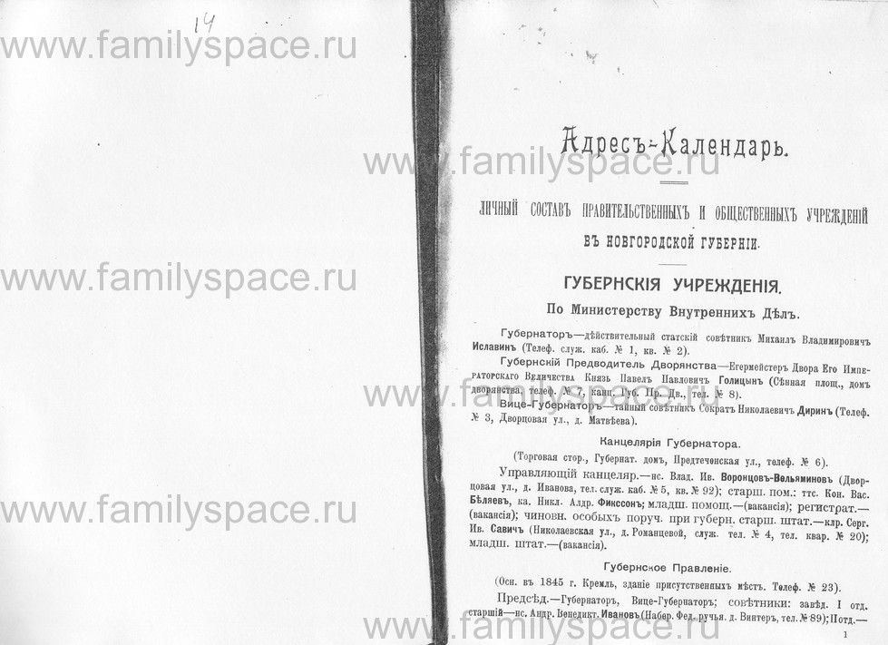 Поиск по фамилии - Памятная книжка Новгородской губернии на 1914 год, страница 1001
