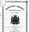Памятная книжка Приморской области на 1903 г