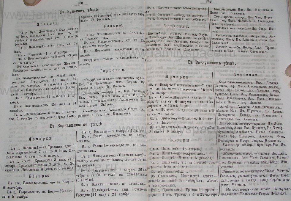Поиск по фамилии - Костромской календарь на 1895 г. , страница 86