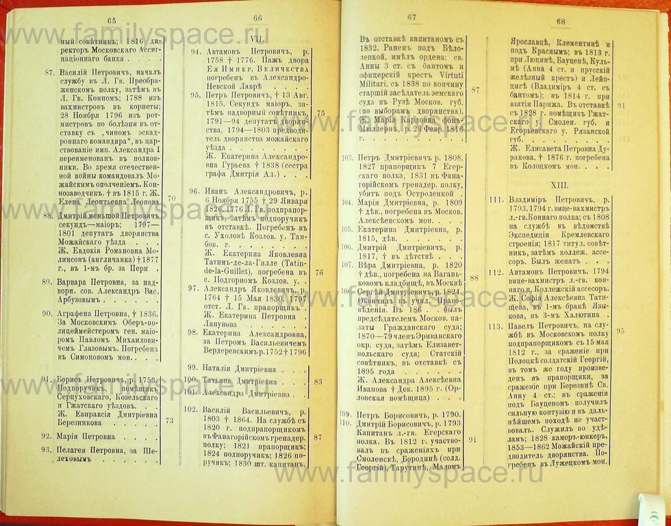 Поиск по фамилии - Статьи по генеалогии и истории дворянства, 1898, страница 3065