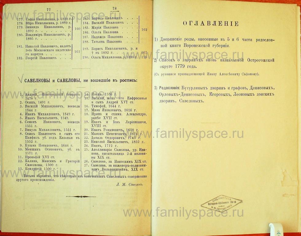 Поиск по фамилии - Статьи по генеалогии и истории дворянства, 1898, страница 3077