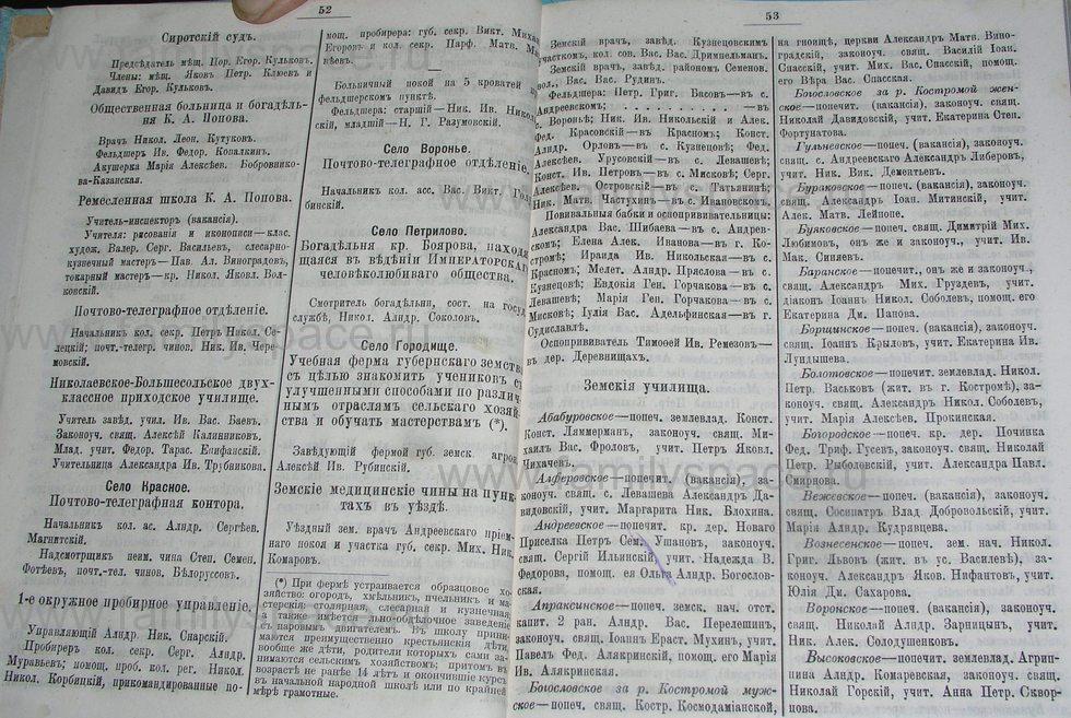 Поиск по фамилии - Костромской календарь на 1900 г. , страница 32