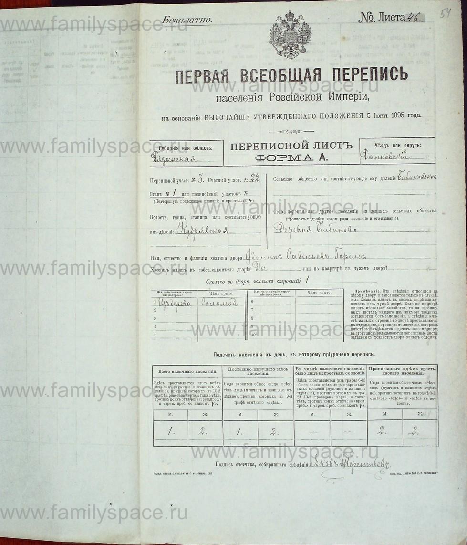Поиск по фамилии - Первая всеобщая перепись населения Российской империи 1897 года, Рязанская губерния, Данковский уезд, страница 737