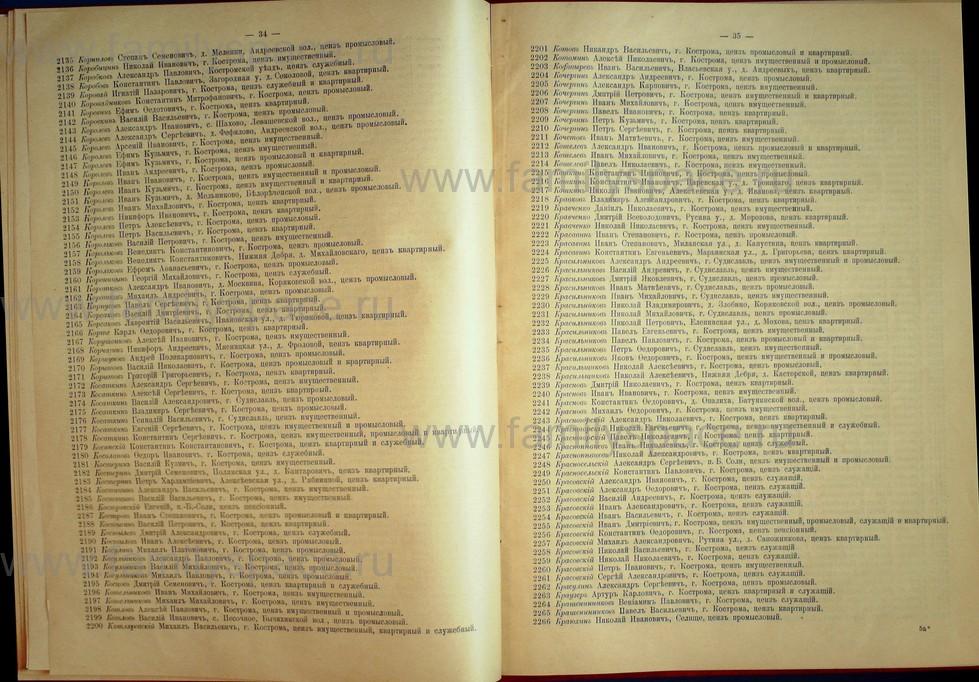 Поиск по фамилии - Список лиц, имеющих право участия на съезде городских избирателей по Костромскому уезду 1906г, страница 18