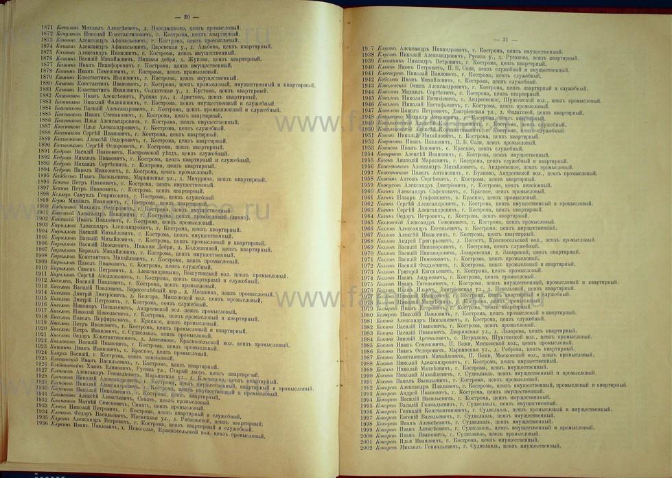 Поиск по фамилии - Список лиц, имеющих право участия на съезде городских избирателей по Костромскому уезду 1906г, страница 16