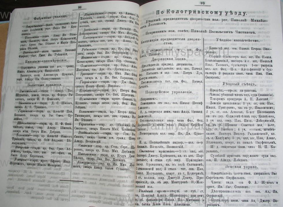 Поиск по фамилии - Костромской календарь на 1907 г. , страница 50