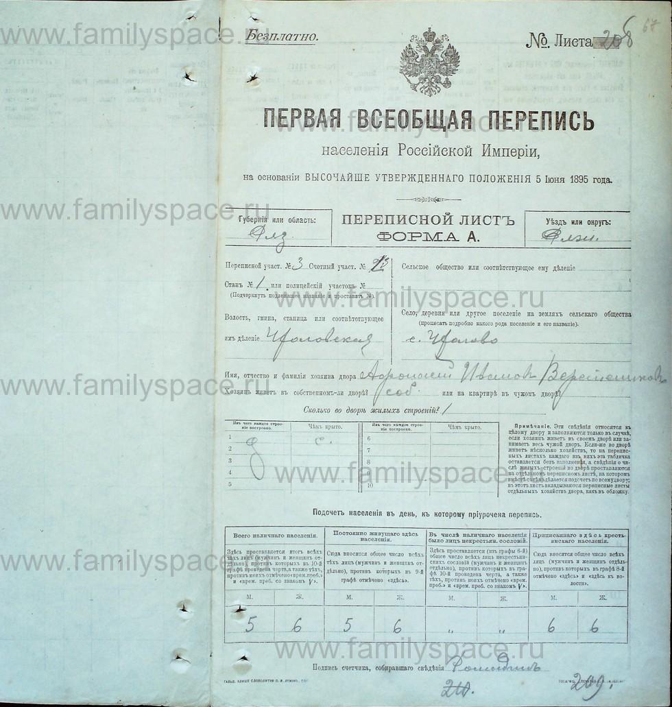 Поиск по фамилии - Первая всеобщая перепись населения Российской империи 1897 года, Рязанская губерния, Ряжский уезд, страница 409