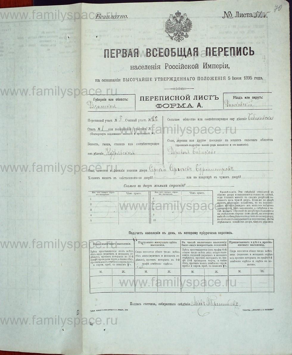 Поиск по фамилии - Первая всеобщая перепись населения Российской империи 1897 года, Рязанская губерния, Данковский уезд, страница 753