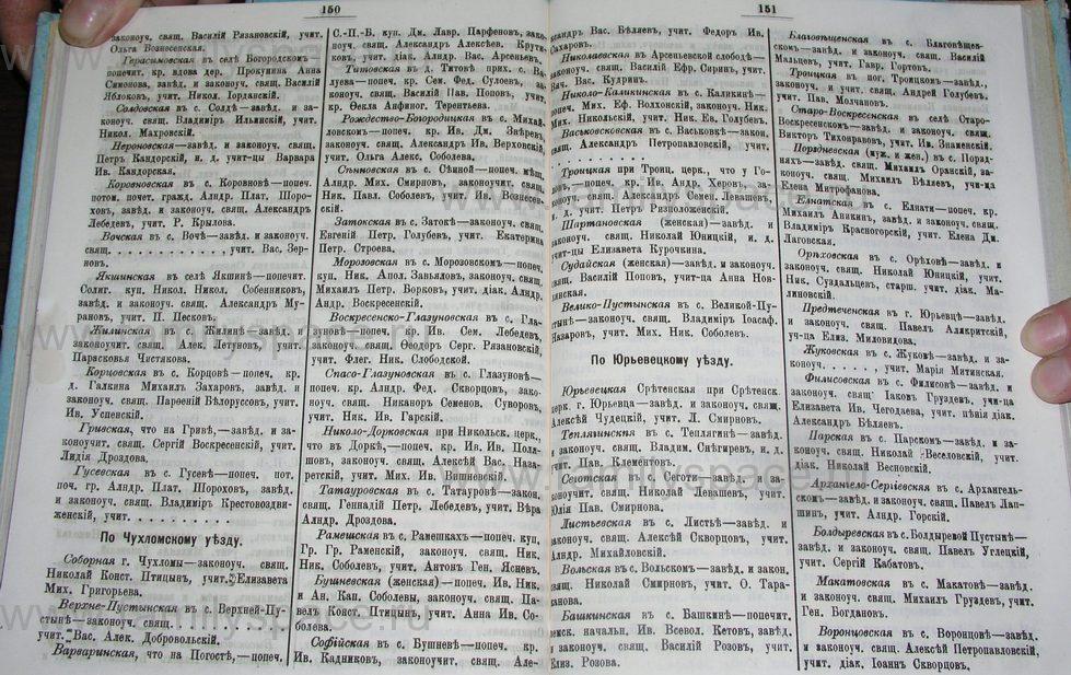 Поиск по фамилии - Костромской календарь на 1900 г. , страница 82