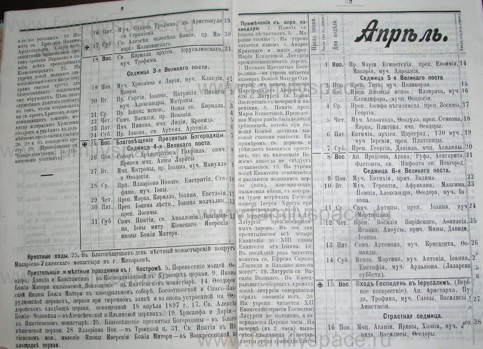 Поиск по фамилии - Костромской календарь на 1907 г. , страница 5