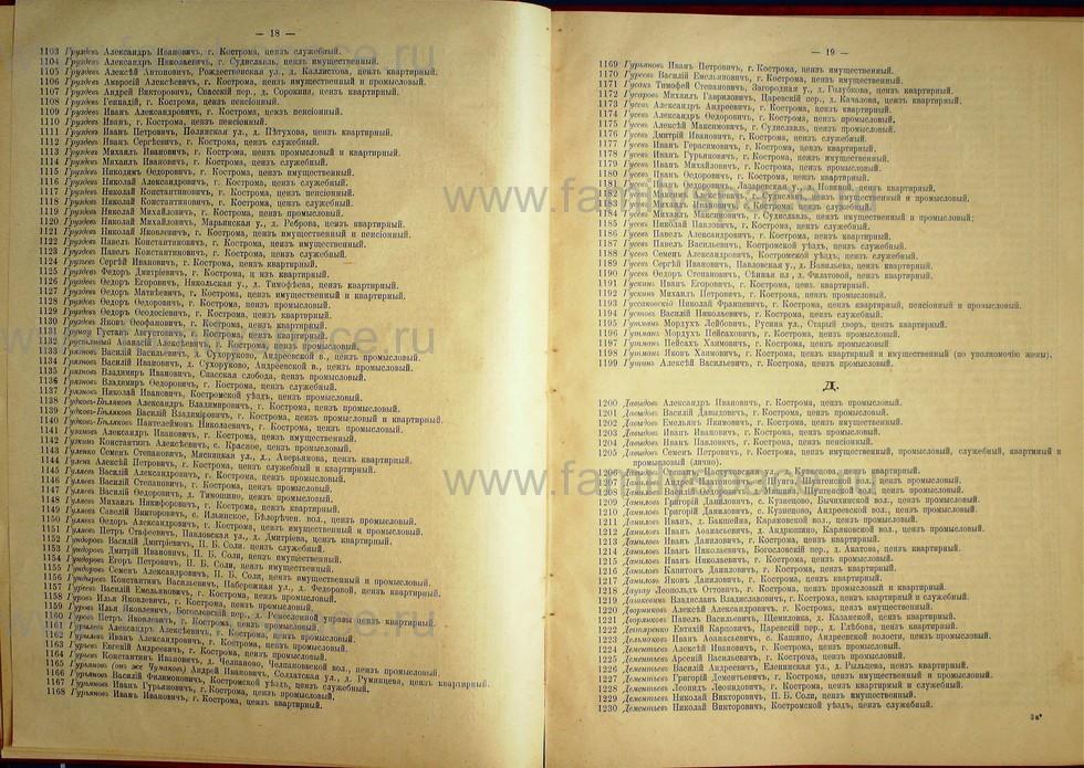 Поиск по фамилии - Список лиц, имеющих право участия на съезде городских избирателей по Костромскому уезду 1906г, страница 10