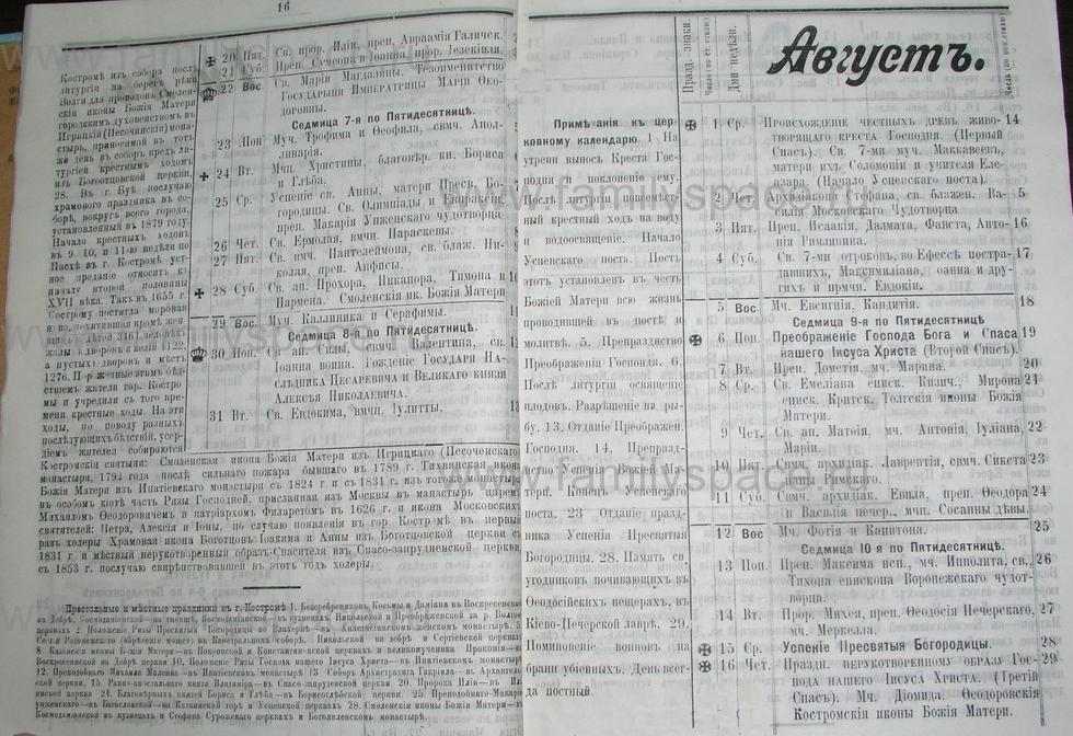 Поиск по фамилии - Костромской календарь на 1907 г. , страница 9