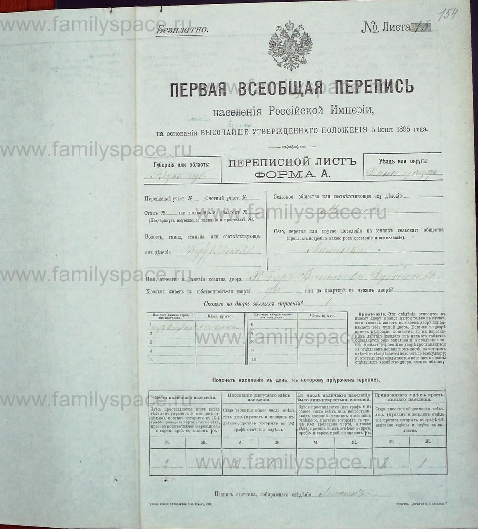 Поиск по фамилии - Первая всеобщая перепись населения Российской империи 1897 года, Рязанская губерния, Данковский уезд, страница 663
