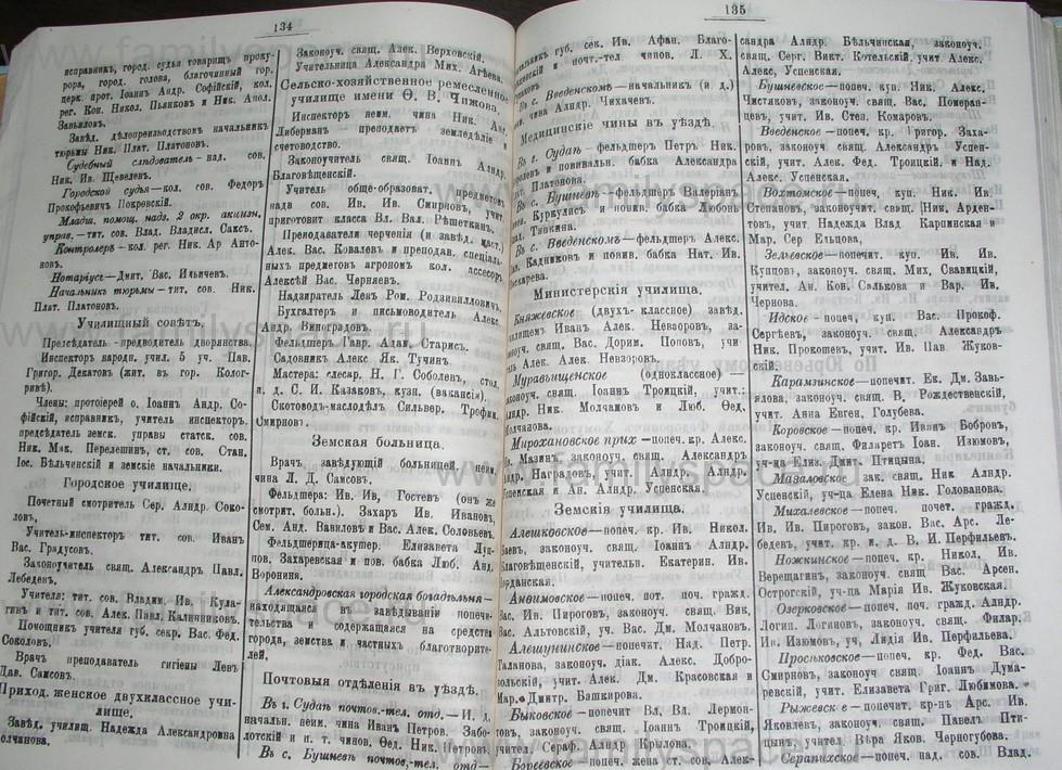 Поиск по фамилии - Костромской календарь на 1907 г. , страница 68