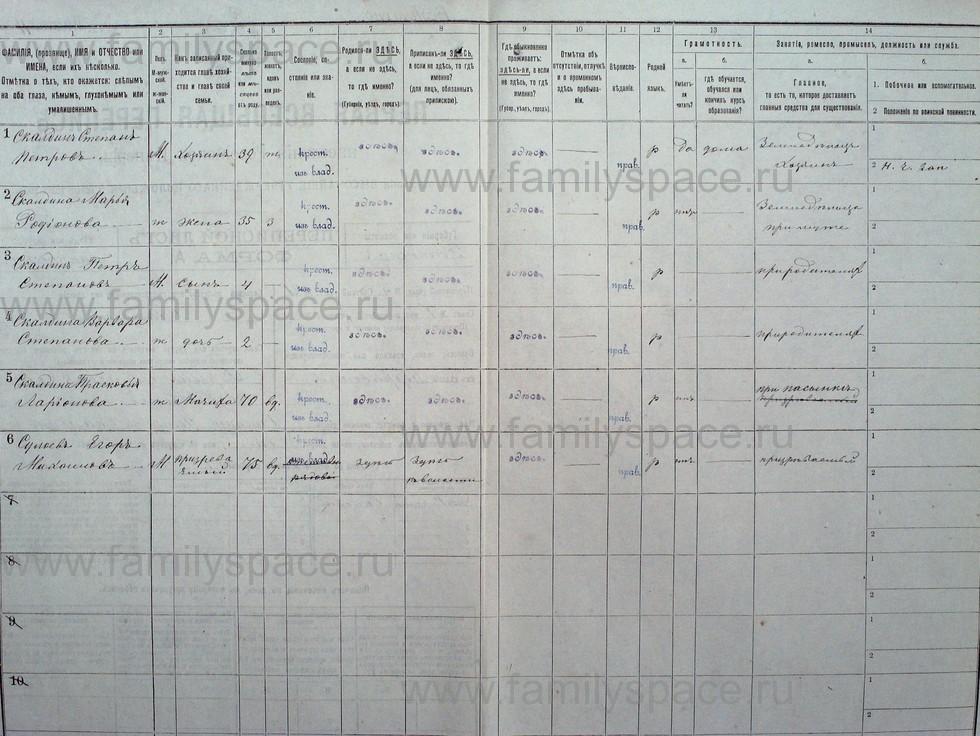 Поиск по фамилии - Первая всеобщая перепись населения Российской империи 1897 года, Рязанская губерния, Данковский уезд, страница 27
