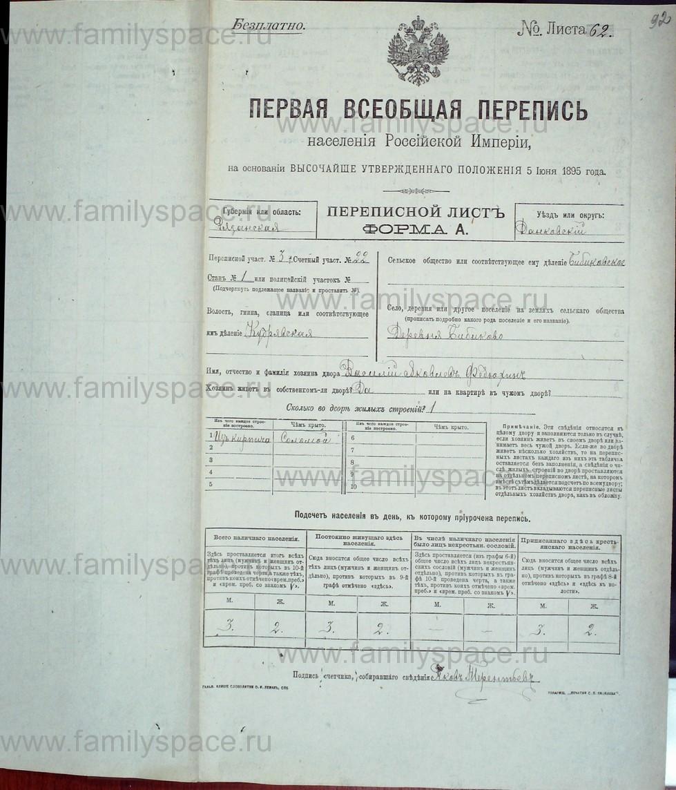 Поиск по фамилии - Первая всеобщая перепись населения Российской империи 1897 года, Рязанская губерния, Данковский уезд, страница 775