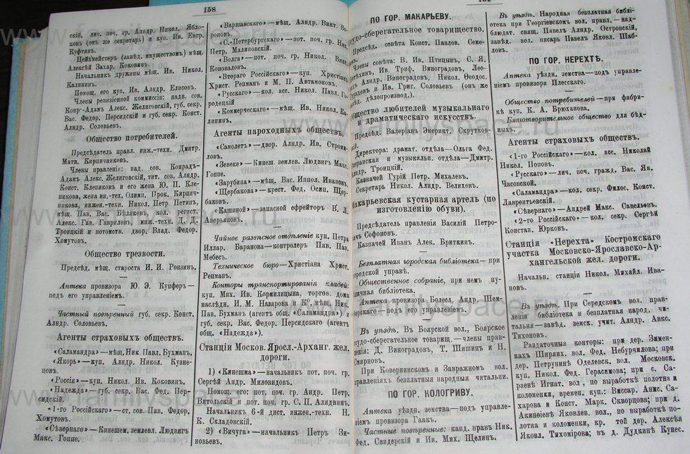 Поиск по фамилии - Костромской календарь на 1900 г. , страница 86