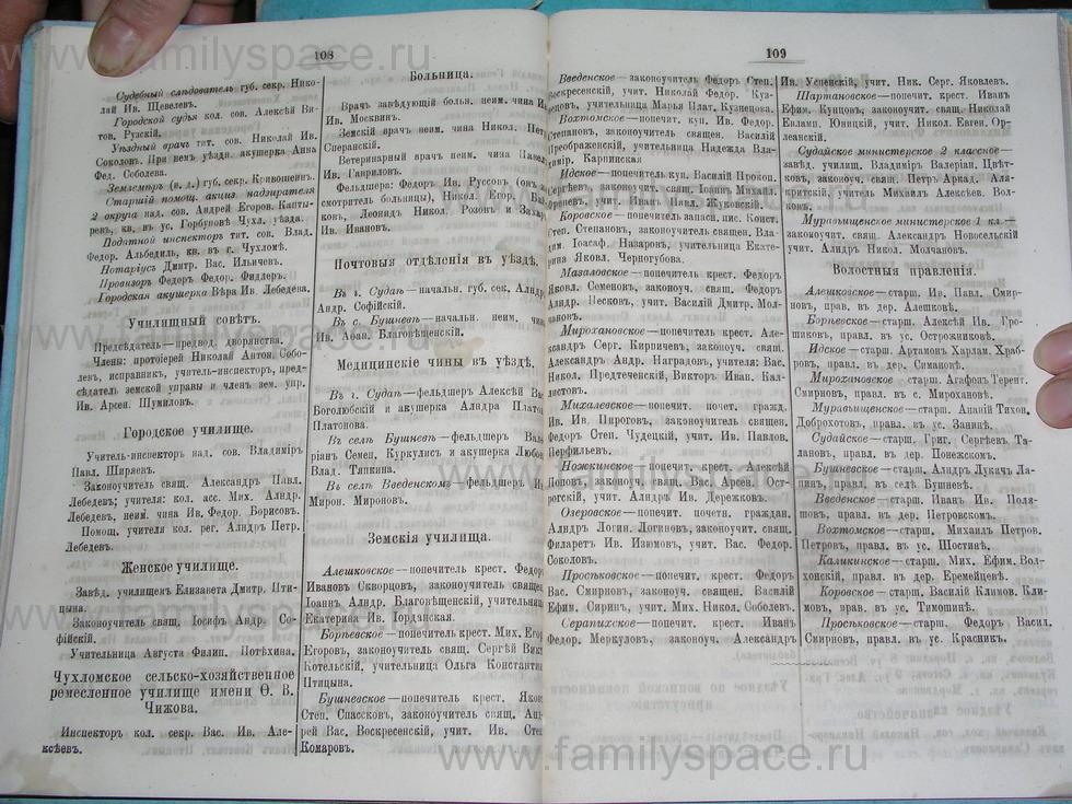 Поиск по фамилии - Костромской календарь на 1895 г. , страница 55