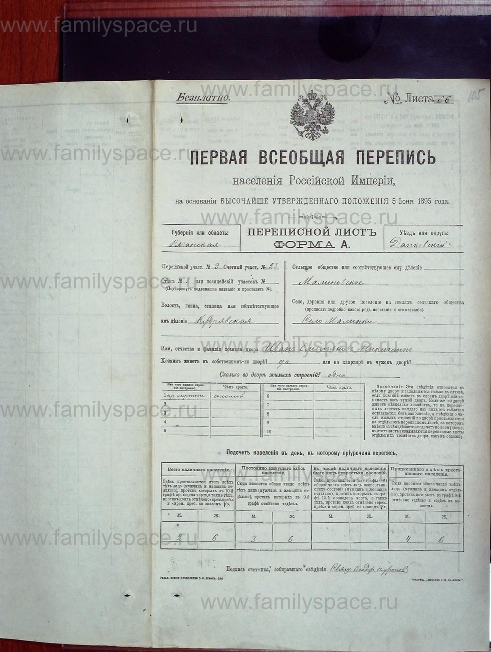 Поиск по фамилии - Первая всеобщая перепись населения Российской империи 1897 года, Рязанская губерния, Данковский уезд, страница 614