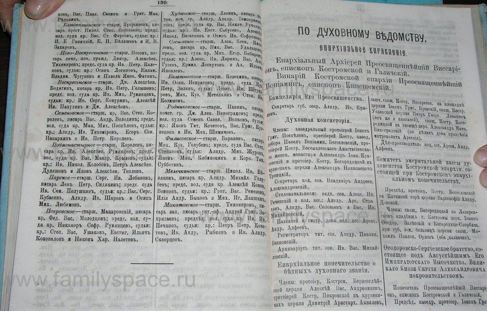 Поиск по фамилии - Костромской календарь на 1900 г. , страница 71