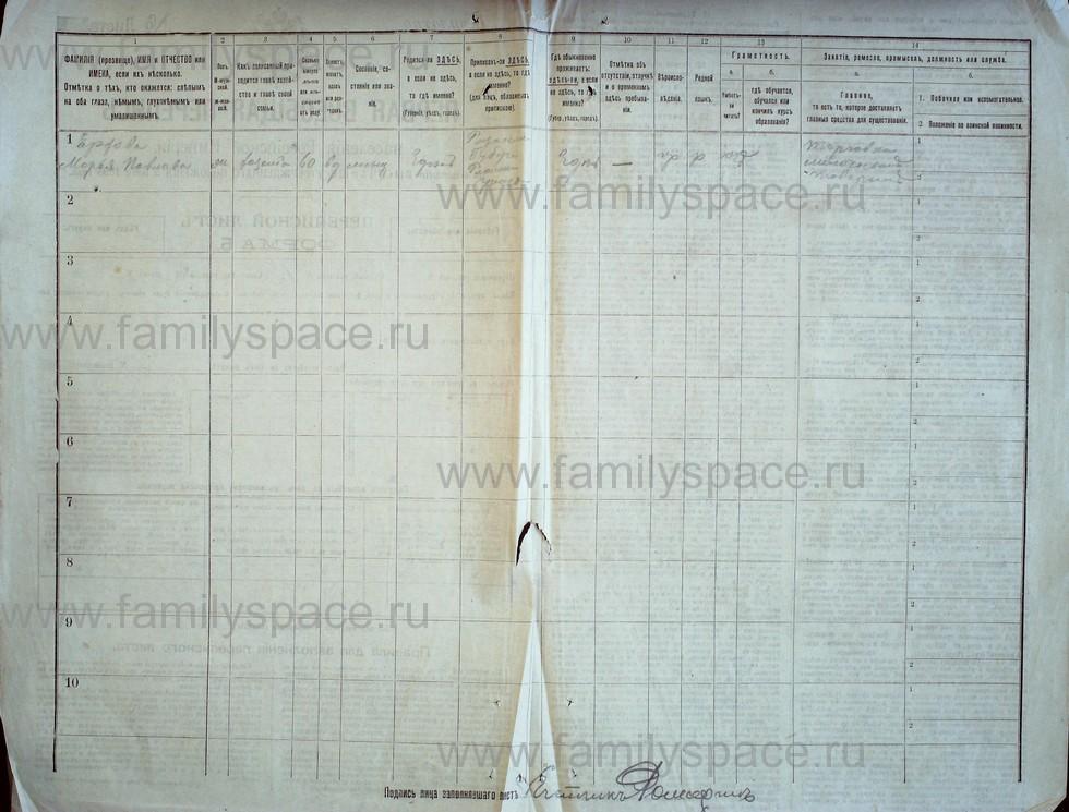Поиск по фамилии - Первая всеобщая перепись населения Российской империи 1897 года, Рязанская губерния, Ряжский уезд, страница 2377