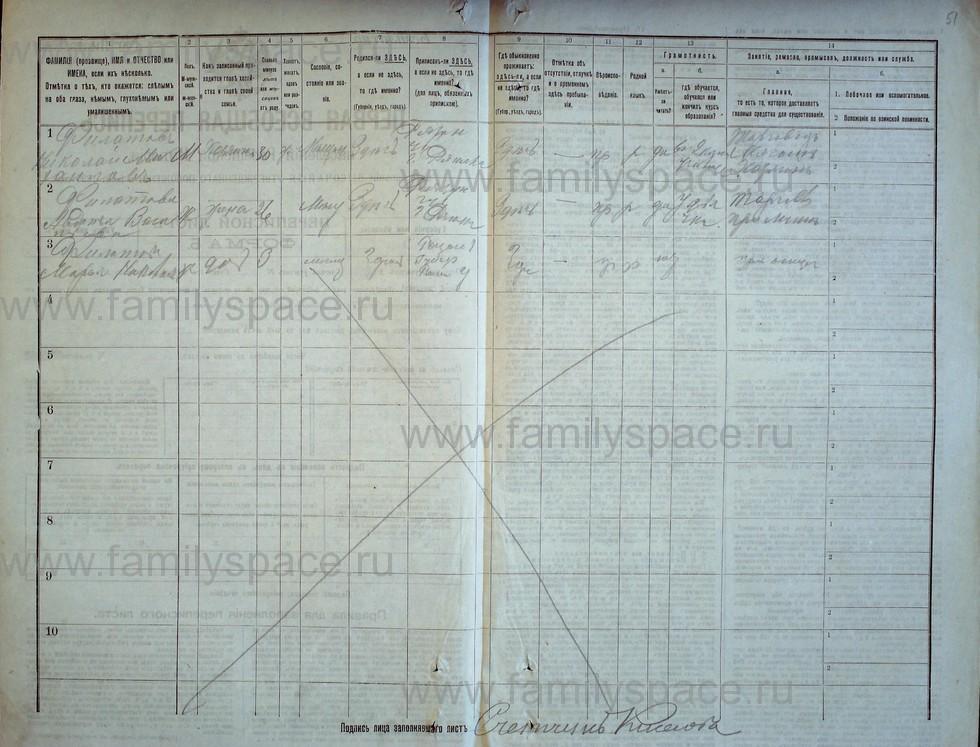 Поиск по фамилии - Первая всеобщая перепись населения Российской империи 1897 года, Рязанская губерния, Ряжский уезд, страница 1295