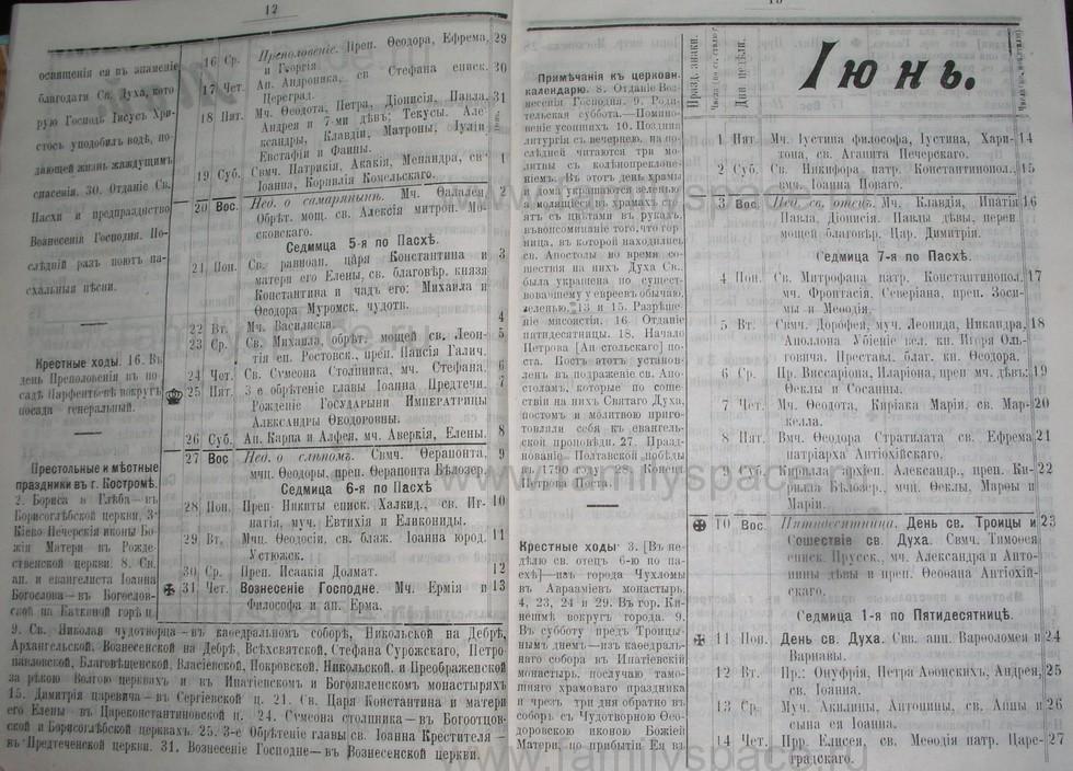 Поиск по фамилии - Костромской календарь на 1907 г. , страница 7