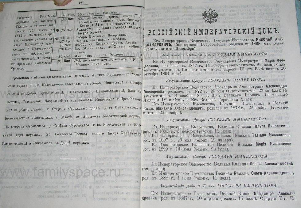 Поиск по фамилии - Костромской календарь на 1900 г. , страница 19