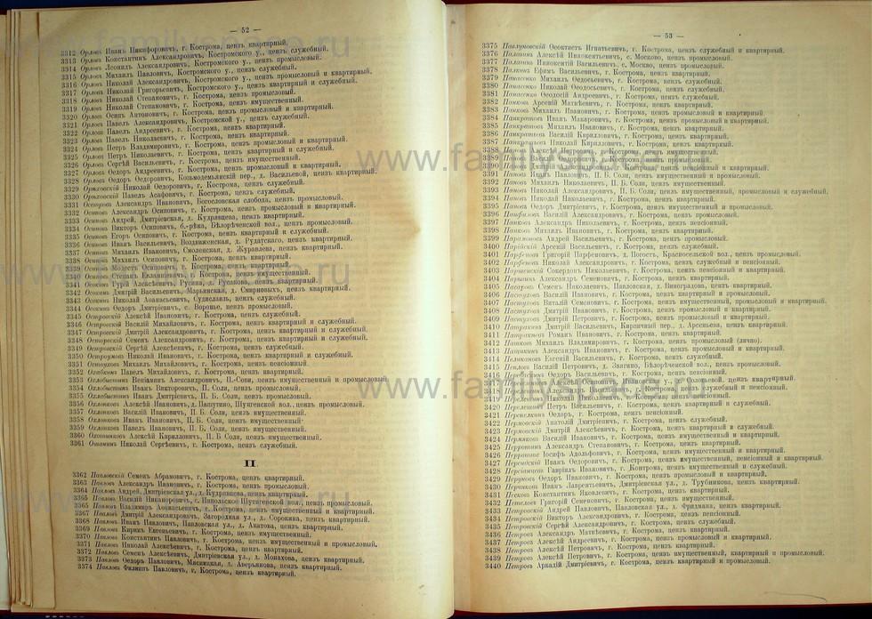 Поиск по фамилии - Список лиц, имеющих право участия на съезде городских избирателей по Костромскому уезду 1906г, страница 26