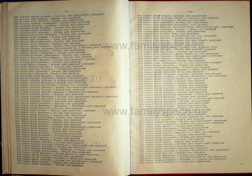 Поиск по фамилии - Список лиц, имеющих право участия на съезде городских избирателей по Костромскому уезду 1906г, страница 33