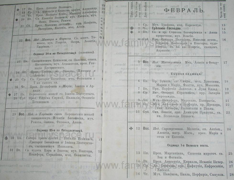 Поиск по фамилии - Костромской календарь на 1895 г. , страница 3