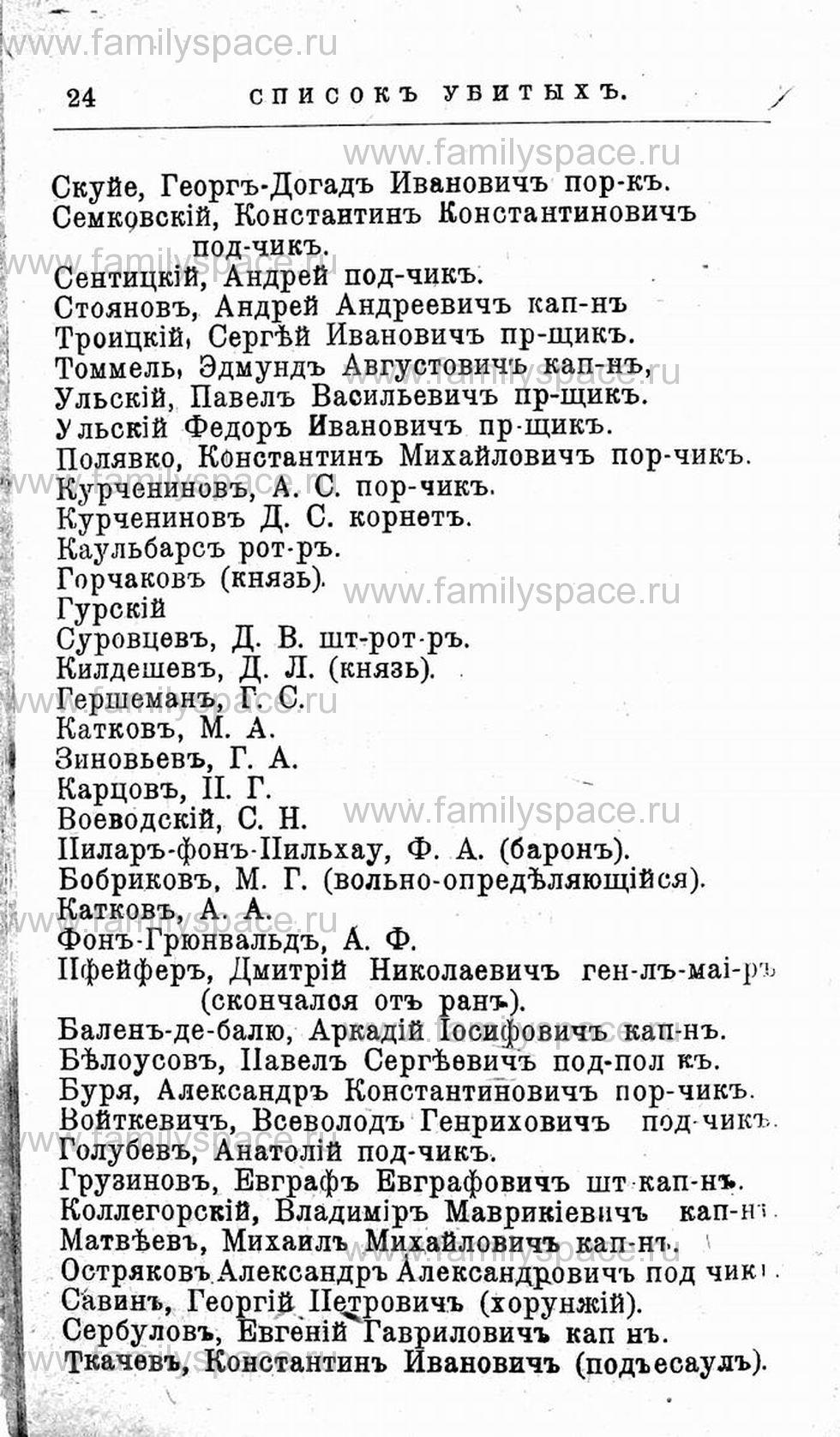 Поиск по фамилии - Первая мировая война - 1914 (списки убитых и раненых), страница 24