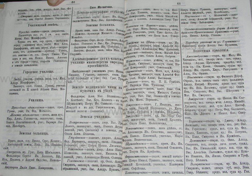 Поиск по фамилии - Костромской календарь на 1900 г. , страница 36