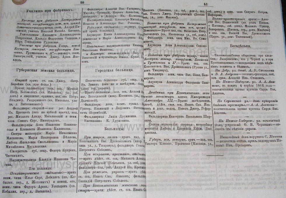 Поиск по фамилии - Костромской календарь на 1895 г. , страница 26