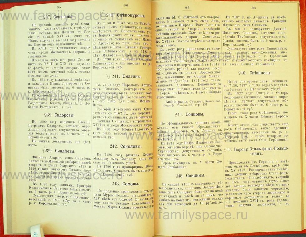 Поиск по фамилии - Статьи по генеалогии и истории дворянства, 1898, страница 1095