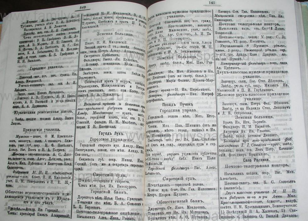 Поиск по фамилии - Костромской календарь на 1907 г. , страница 71