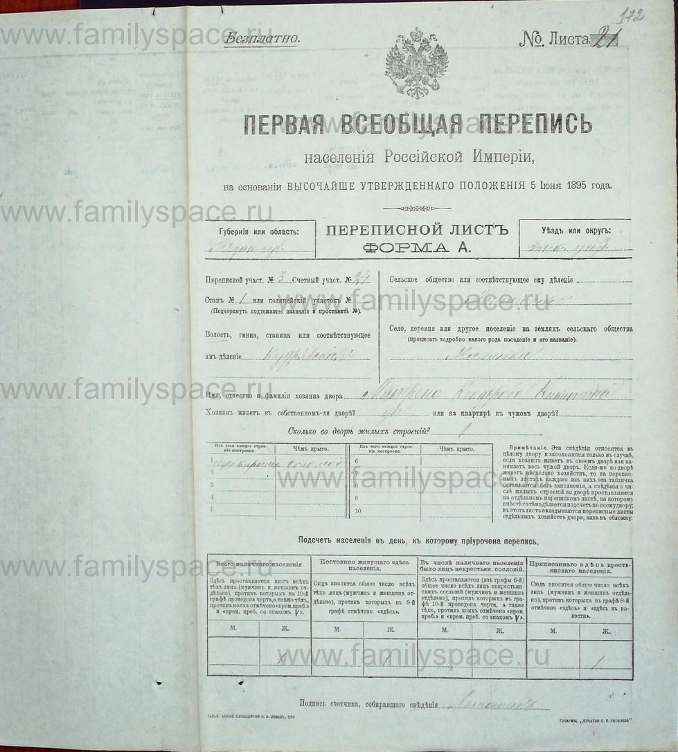 Поиск по фамилии - Первая всеобщая перепись населения Российской империи 1897 года, Рязанская губерния, Данковский уезд, страница 680