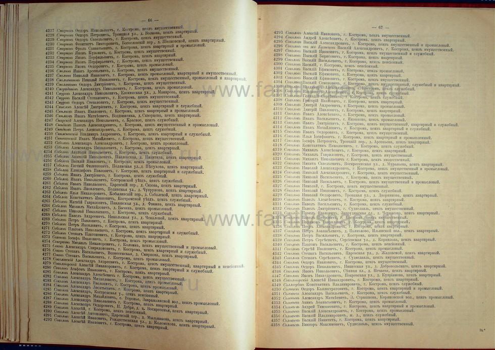Поиск по фамилии - Список лиц, имеющих право участия на съезде городских избирателей по Костромскому уезду 1906г, страница 34