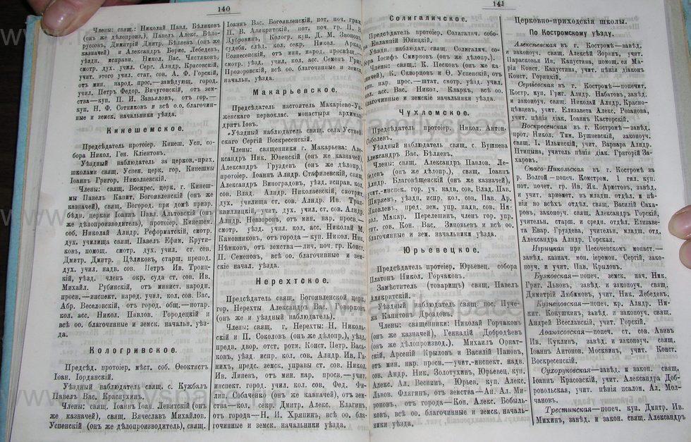 Поиск по фамилии - Костромской календарь на 1900 г. , страница 77