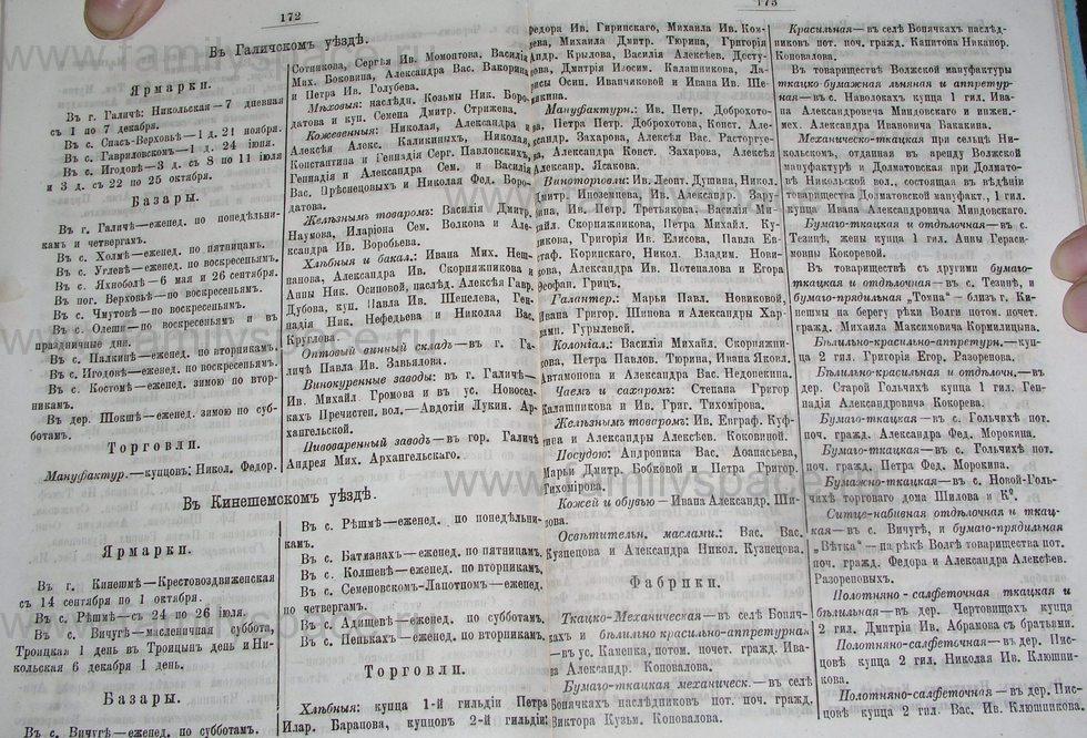 Поиск по фамилии - Костромской календарь на 1895 г. , страница 87
