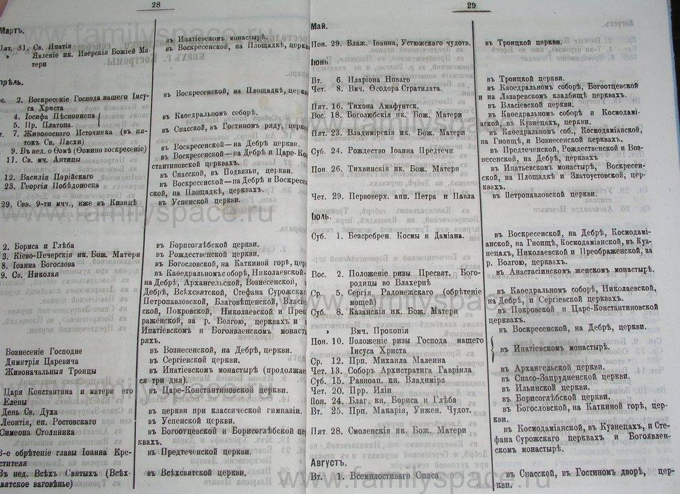Поиск по фамилии - Костромской календарь на 1895 г. , страница 15