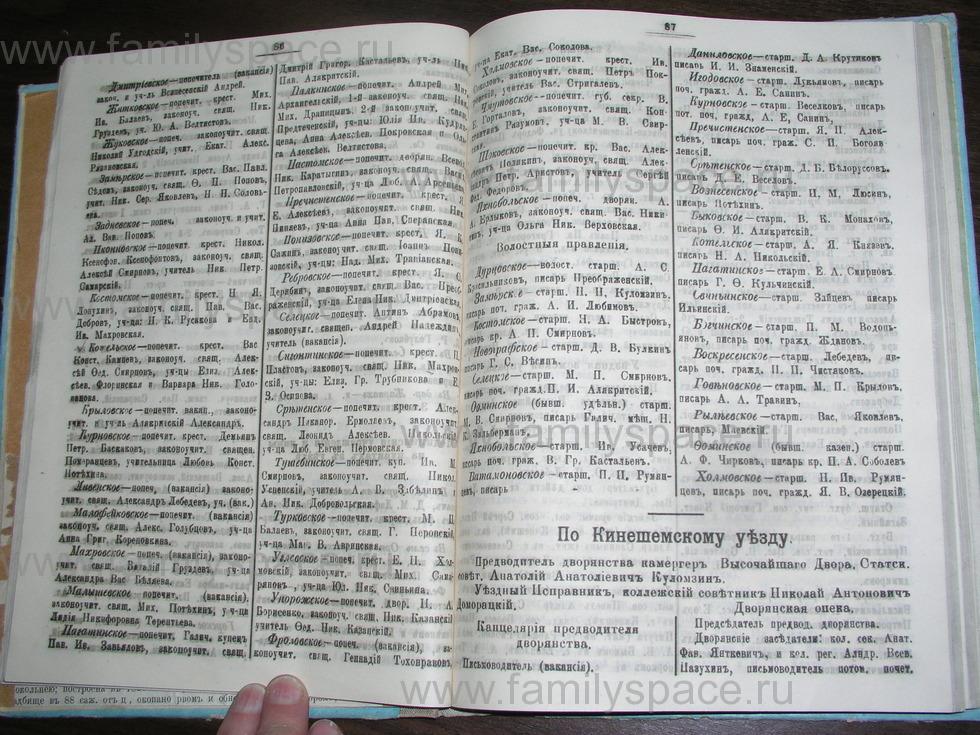 Поиск по фамилии - Костромской календарь на 1907 г. , страница 44