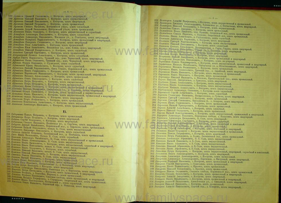 Поиск по фамилии - Список лиц, имеющих право участия на съезде городских избирателей по Костромскому уезду 1906г, страница 3