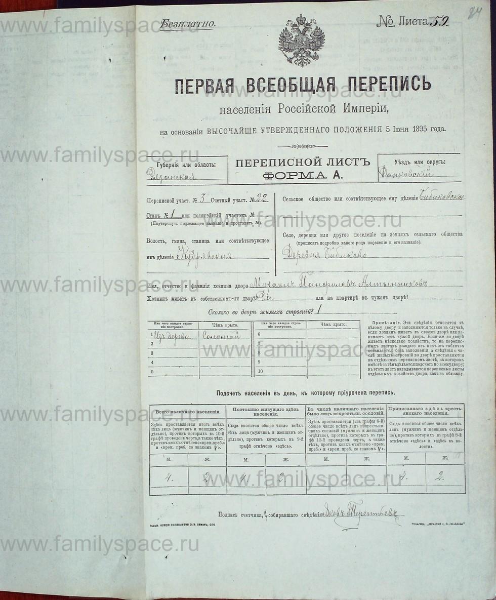 Поиск по фамилии - Первая всеобщая перепись населения Российской империи 1897 года, Рязанская губерния, Данковский уезд, страница 767