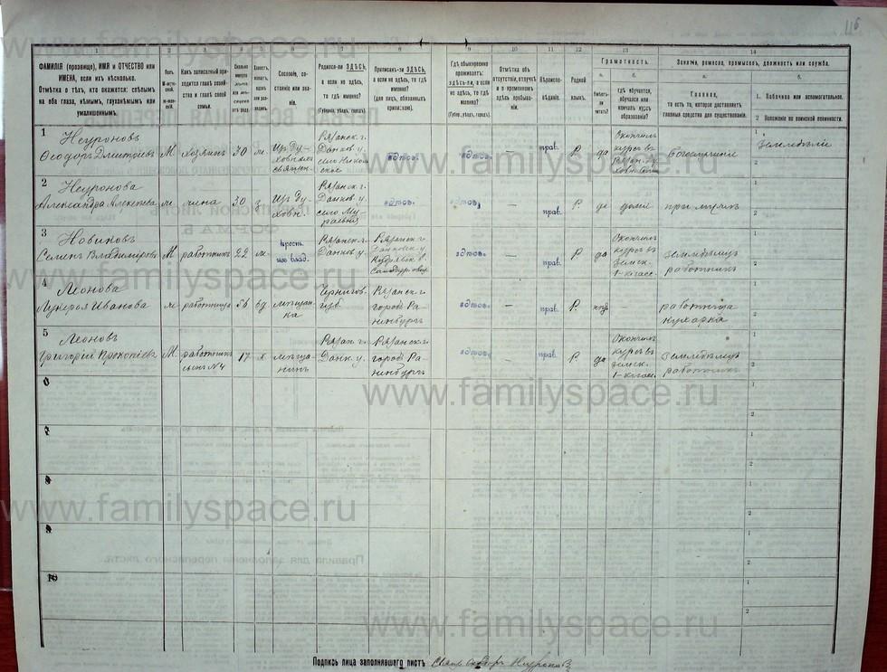 Поиск по фамилии - Первая всеобщая перепись населения Российской империи 1897 года, Рязанская губерния, Данковский уезд, страница 625