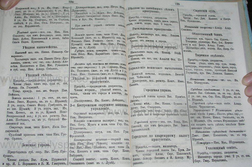 Поиск по фамилии - Костромской календарь на 1900 г. , страница 68