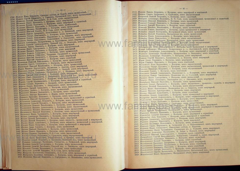 Поиск по фамилии - Список лиц, имеющих право участия на съезде городских избирателей по Костромскому уезду 1906г, страница 23