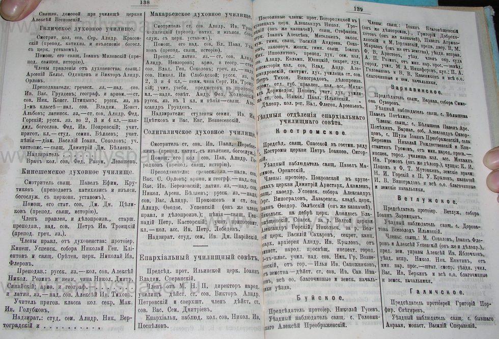 Поиск по фамилии - Костромской календарь на 1900 г. , страница 75