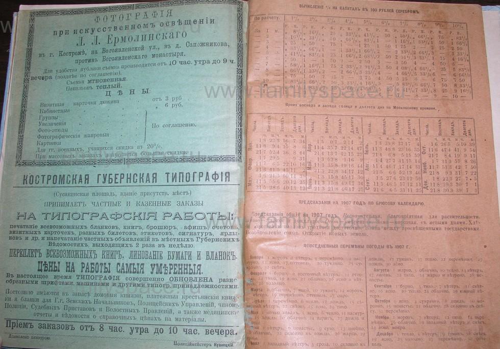 Поиск по фамилии - Костромской календарь на 1907 г. , страница 127