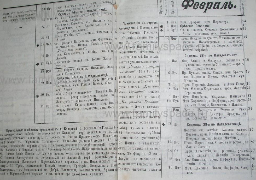 Поиск по фамилии - Костромской календарь на 1907 г. , страница 3